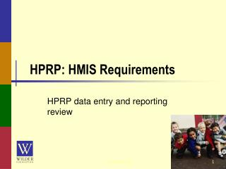 HPRP: HMIS Requirements