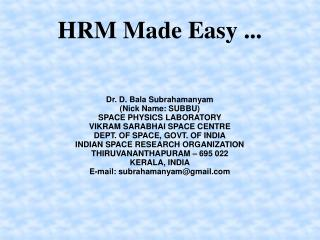 HRM Made Easy ...