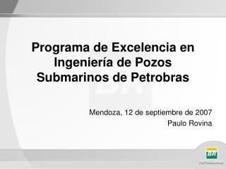 Programa de Excelencia en Ingenier�a de Pozos Submarinos de Petrobras