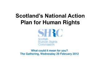 Scotland�s National Action Plan for Human Rights