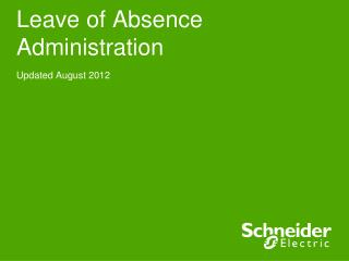 Leave of Absence Administration