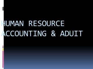 HUMAN RESOURCE ACCOUNTING & ADUIT
