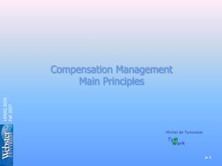 Compensation Management Main Principles