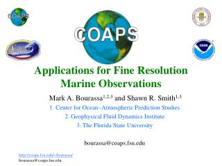 Applications for Fine Resolution Marine Observations