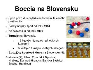 Boccia na Slovensku