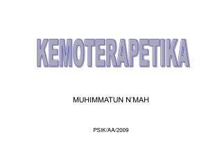 MUHIMMATUN N'MAH PSIK/AA/2009