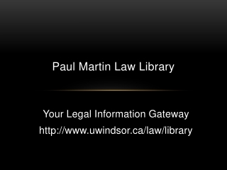 Introduction to Legal Research: Primary Sources