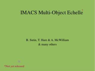 IMACS Multi-Object Echelle