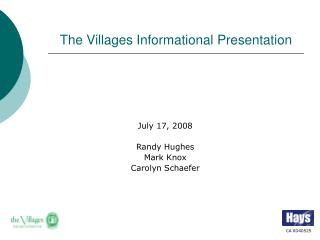The Villages Informational Presentation