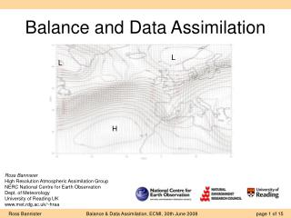 Balance and Data Assimilation