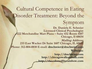 Cultural Competence in Eating Disorder Treatment: Beyond the Symptom