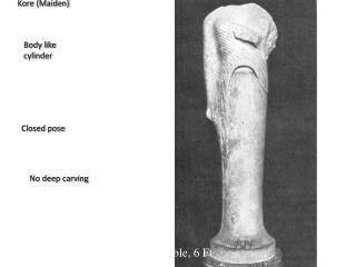 Hera from Samos, 570 BC,Marble, 6 Ft