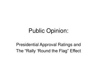 Public Opinion: