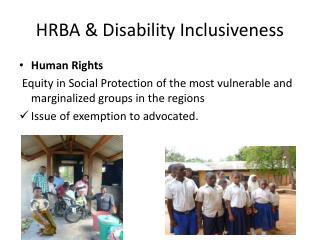 HRBA & Disability Inclusiveness
