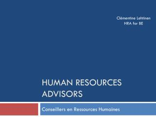 Human Resources Advisors