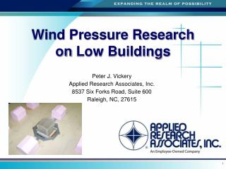 Wind Pressure Research on  Low Buildings