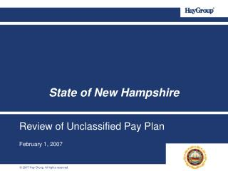 Review of Unclassified Pay Plan