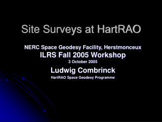 Site Surveys at HartRAO