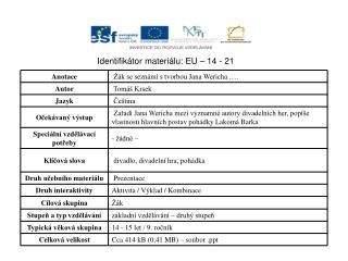 Identifikátor materiálu: EU – 14  -  21