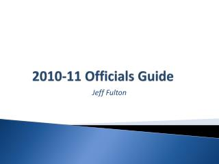 2010-11 Officials Guide