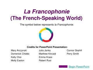 La Francophonie The French-Speaking World