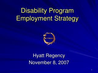 Disability Program Employment Strategy