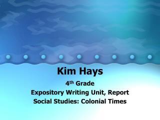 Kim Hays