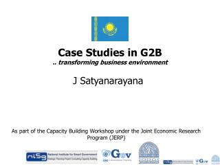 Case Studies in G2B .. transforming business environment