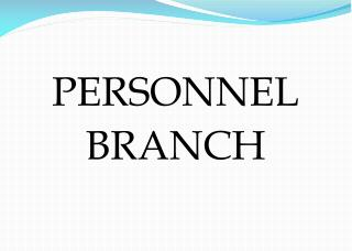 PERSONNEL BRANCH