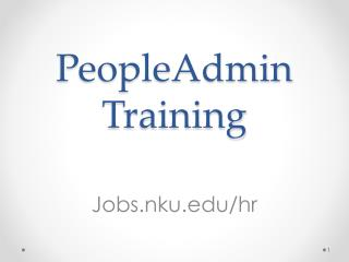 PeopleAdmin Training