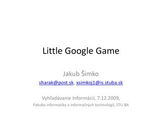 Little Google Game