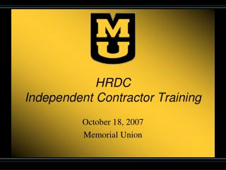 HRDC Independent Contractor Training