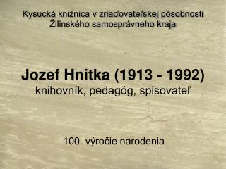100. výročie narodenia