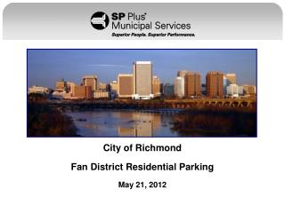 City of Richmond Fan District Residential Parking May 21, 2012