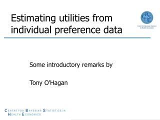 Estimating utilities from individual preference data