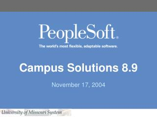 Campus Solutions 8.9