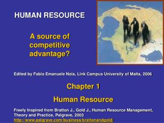 HUMAN RESOURCE A source of competitive advantage?