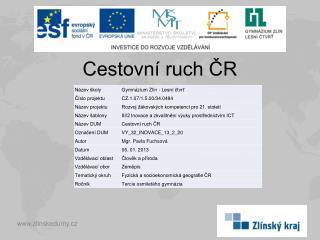 Cestovní ruch ČR