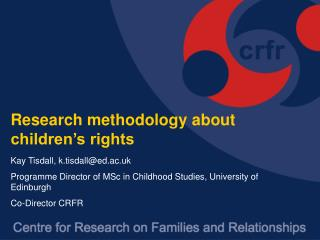 Research methodology about children's rights
