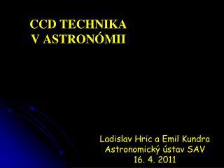 CCD technika vastronómii