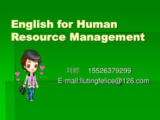 English for Human Resource Management