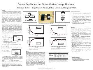 Secular Equilibrium in a Cesium