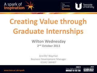 Creating Value through Graduate Internships