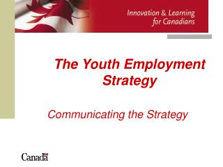 The Youth Employment Strategy