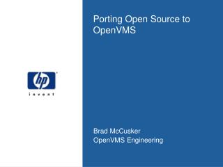 Porting Open Source to OpenVMS