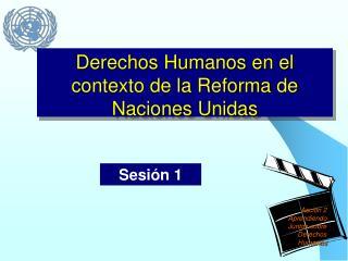 Derechos Humanos en el contexto de la Reforma de Naciones Unidas