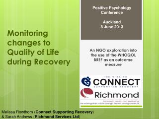 Monitoring changes to Quality of Life during Recovery