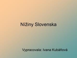 Nížiny Slovenska