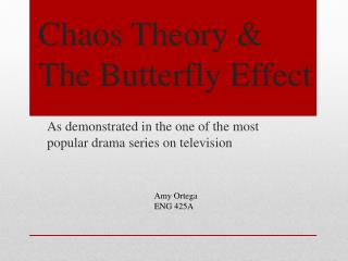 Chaos Theory & The Butterfly Effect