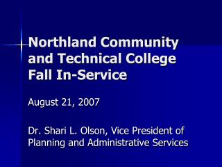 Northland Community and Technical College Fall In-Service